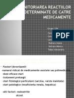 Monitoriarea Reactiilor Adverse Determinate de Catre Medicamente