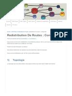 Configuration Redistribution de Routes