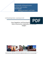 Costs Regulation and Financing of Mass Water Infrastructure - Implicatio...