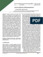 Confined Concrete Behavior Influencing Factors