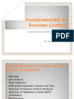 Fundamentals of Erosion Control