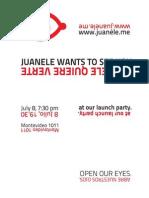 Juanele Launch Party Invitation