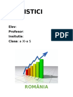 Proiect La Mate - Statistici
