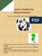 Tema 2 Análisis de Requerimientos