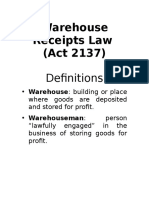 Warehouse Receipts Law