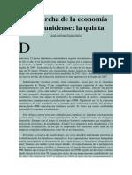 La Marcha de La Economía Estadunidense La Quinta