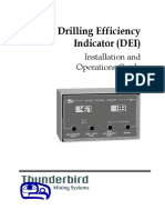 Thunderbird Mining Systems - Drilling Efficiency Indicator (DEI)