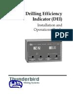 Thunderbird Mining Systems - Drilling Efficiency Indicator (DEI)