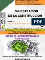 03 La Productividad en La Construccion UNFV 2016 FINAL