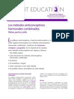 METODOS COMBINADOS ANTICONCEPTIVOS