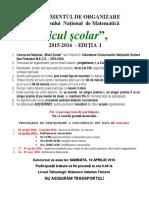 Concursul de Matematica Micul Scolar