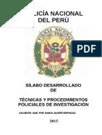 Sillabo Tec. y Procedimientos Pol de Investigacion