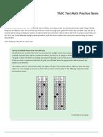 TASC Test Practice Items Math