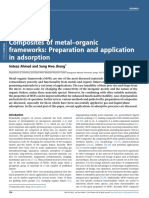 Composites of Metal-Organic Frameworks Preparation and Application in Adsorption