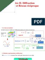 Chap2 Diffraction Cristalline Et Réseau Réciproque - ENSTAB Courseware