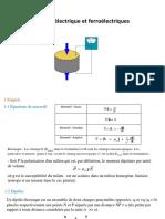 Chap8 Diélectrique Et Ferroélectriques - ENSTAB Courseware