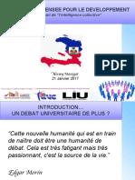 Le défi de la pensée pour le développement en Haïti ou le pari de l'intelligence collective.