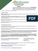 Blank Scholarship Application Template