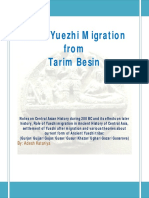 Great Yuezhi Migration From Tarim Besin