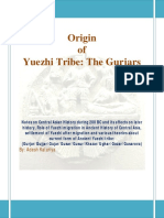 Origin of Yuezhi Tribe