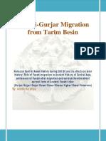 Yuezhi-Gurjar Migration From Tarim Besin