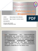 Fabricación de Biopolímeros