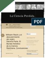 Wilhelm Reich y el descubrimiento del orgón. Décima Parte. El Mundo Holístico de.pdf