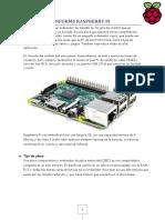 Informe Raspberry Pi