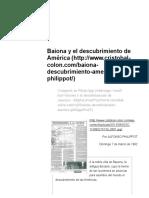 Baiona y El Descubrimiento de América _ Biografía de Cristóbal Colón