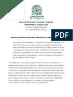 Análisis de Coyuntura Sobre El Xviii Brumario de Luis Bonaparte. Karl Marx. Darlinton Moreno.