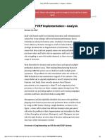 Keda SAP ERP Implementation — Analysis – Medium