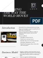 Uber- Changing the Way the World Moves