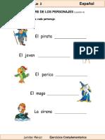 1er Grado - Español - Nombres Propios2bloque