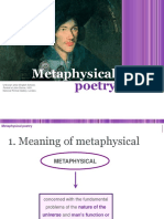 Metaphysical Poetry General