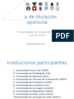 Tasa de Titulacion Oportuna REDUAI CUECH_final