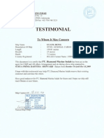 Testimonial Mv. Guang Rong-chahaya Shipping