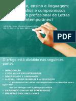Diversidade, Ensino e Linguagem