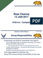 Base Clean-up_13 Jan 2017