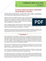 Portugues para Estrangeiros - Ser X Estar - Consideracoes