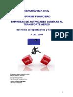 Informe Financiero de Empresas de Actividades Conexas Año 2009