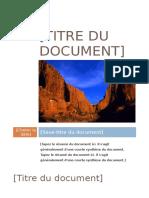 Titre Du Document