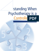 Understanding When Psychotherapy is a Controlled Act