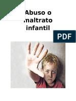 Abuso o Maltrato Infantil