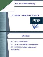 Iso 22000 - Oprps vs Haccp