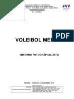 VOLEIBOL MERIDA, Informe Fotografico 2016