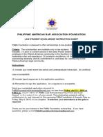 Philippine American Bar Association Law Student Scholarship Application