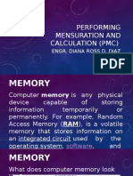 Performing Mensuration and Calculation (Pmc)