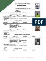 Evergreen Park Arrests Jan. 12 to Jan. 19, 2017