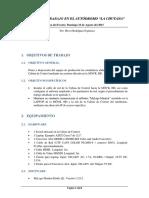 Informe de Trabajo en La Chutana