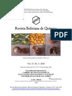 Revista Boliviana de Quimica, Vol 33 N.5 Presentation